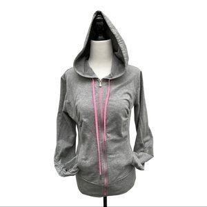 Danskin Grey & Pink Zip Up Hoodie